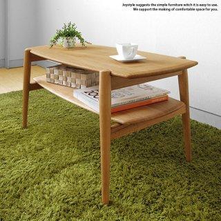 幅90cm 幅120cm 幅150cm ナラ材 ナラ無垢材 ナラ天然木 木製ローテーブル ナチュラルテイスト 北欧家具 丸みのあるやわらかなデザインの収納棚付きセンターテーブル