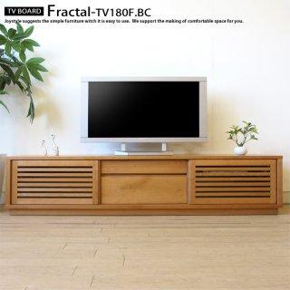 テレビ台 格子扉 引き戸 スライド扉のテレビボード 幅180cm ブラックチェリー材 ブラックチェリー無垢材 木製 FRACTAL-TV180F