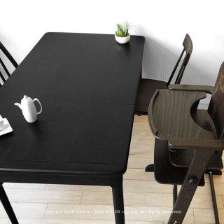 受注生産商品 国産 北海道産ミズナラ材 伸長式 ダイニングテーブル 幅90cmから幅130cmになるエクステンションテーブル SLOW-90 ダークブラウン色(※チェア別売)