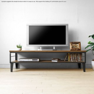開梱設置配送 幅150cm ナラ無垢材 木製テレビ台 ナラ材 スチール レトロ ヴィンテージ風 テレビボード