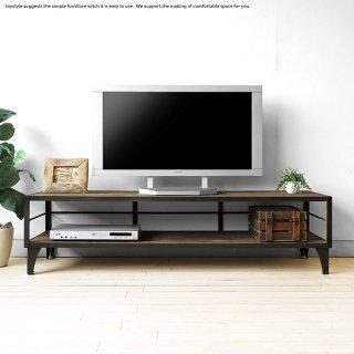 幅148cm ニレ無垢材 ニレ古木 木製テレビ台 ニレ古材とスチールを組み合わせたレトロな雰囲気を漂わせるヴィンテージのテレビボード