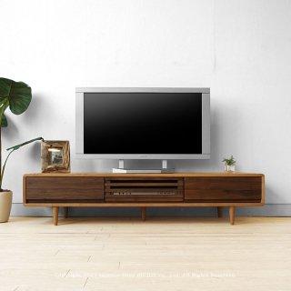 テレビボード テレビ台 幅150cm タモ材 ウォールナット材 木製 北欧家具 ツートンカラー  CRUST-TV150L