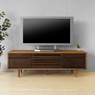 テレビボード テレビ台 幅125cm タモ材 ウォールナット材 ツートンカラー 角が丸い北欧テイスト CRUST-125
