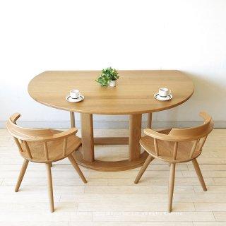 半円形テーブル カウンターテーブル ダイニングテーブル 受注生産商品 レッドオーク材 レッドオーク無垢材 幅135cm 幅150cm MARCO-NA(※チェア別売)