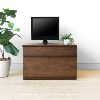 ウォールナット材 ウォールナット無垢材 コンパクトなテレビ台 引き出しタイプのユニットテレビボード 木製テレビ台 ユニット家具 ローチェスト