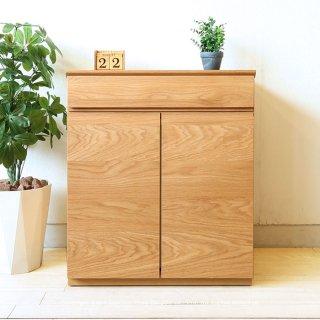 キャビネット 両開き 幅60cm アルダー材 コンパクトでシンプルなユニット型キャビネット 木製 ナチュラルテイスト