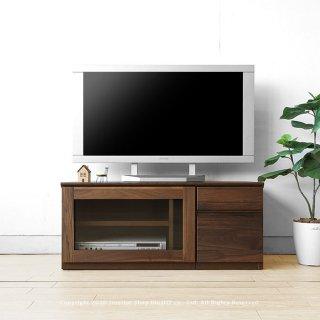 テレビ台 引き出し ガラス扉 ユニットテレビボード ユニット家具 開梱設置配送 ウォールナット材 ウォールナット無垢材 木製 ※無垢天板は納期30日