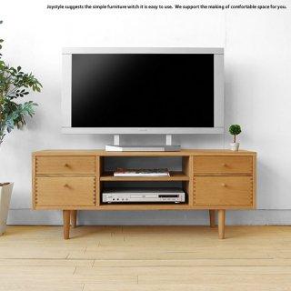 木製テレビ台 奥行35cmのコンパクト設計のテレビボード 受注生産商品 幅116cm ナラ材 ナラ無垢材を贅沢に使用