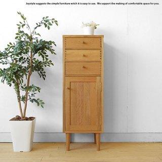 ハイチェスト サイドチェスト 受注生産商品 幅35cm ナラ材 ナラ無垢材を贅沢に使用した木製キャビネット 奥行30cmのコンパクト設計