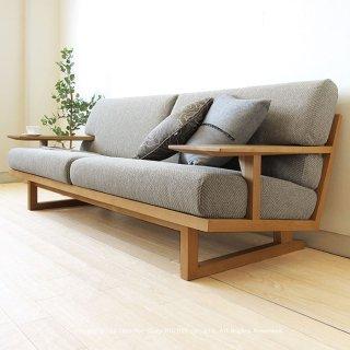 3人掛けソファー 木製ソファ− 3Pソファ− 受注生産商品 ナラ材 ナラ無垢材 木製フレーム カバーリング SPOKE-LS