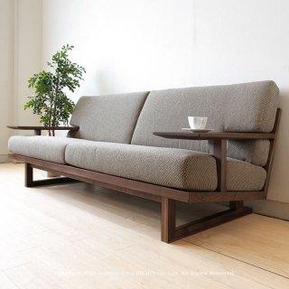 3人掛けソファー 木製ソファ− 3Pソファ− 受注生産商品 ウォールナット材 ウォールナット無垢材 天然木 木製フレーム フルカバーリング SPOKE-LS-WN