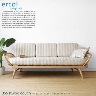 受注生産 英国家具 輸入家具 ウッドフレームの3Pソファ 美しいデザインのカウチソファ イギリス アーコール 355スタジオカウチ 355 studio couch