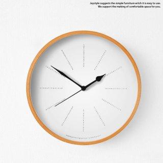 直径25.5cm メープル突板を枠に使用したナチュラルテイストな時計 様々なお部屋に合わせられるシンプルで洗練された掛け時計 置時計にもなります