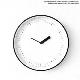 直径25cm ブラックスチールを枠に使用したモダンテイストな時計 様々なお部屋に合わせられるシンプルで洗練された掛け時計 置時計にもなります