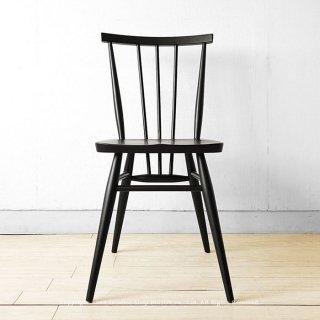 ※現在欠品中、次回入荷予定は11月下頃です。ダイニングチェア ブラック色 タモ材 タモ無垢材 木座 木製椅子 カントリーモダン ウィンザーチェア アンティークチェアがモチーフ