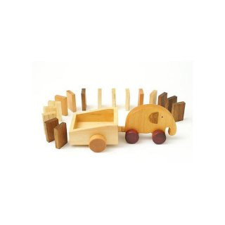 森のささやき エレファントドミノ ドミノ積み木 ブロック 木のおもちゃ 知育玩具 男の子 女の子 出産祝い お誕生日プレゼント エド・インター おもちゃ