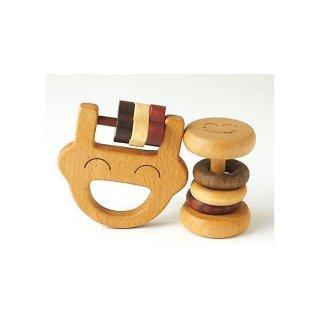 森のささやき パパラトルセット ガラガラ 歯がため 木製 玩具 ベビートイ 木のおもちゃ 知育玩具 男の子 女の子 出産祝い お誕生日プレゼント エド・インター おもちゃ