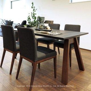 ダイニングテーブル 食卓テーブル 幅150cm 幅180cm メラミン天板 メラミン化粧板 開梱設置配送 ウォールナット突板(※チェア別売)