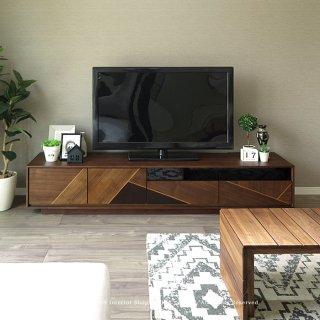 テレビ台 開梱設置配送 テレビボード 幅180cm 幅145cm グラフィカルな前板がかっこいい ウォールナット突板 モダンリビング 木製