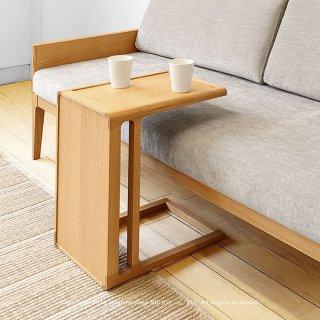 サイドテーブル コーヒーテーブル 縦置き横置きできる ユニークなコの字デザイン オーク材 オーク突板 北欧テイスト