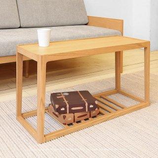 ローテーブル サイドテーブル コーヒーテーブル リビングテーブル ユニークなデザイン オーク材 オーク突板 北欧テイスト 幅80cm