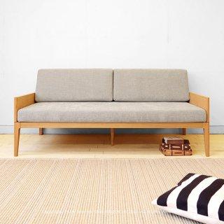 2Pソファ 2人掛けソファ ベッドのように使えるソファ カバーリング ローバックソファ 幅165cm 開梱設置配送 オーク材 北欧テイスト