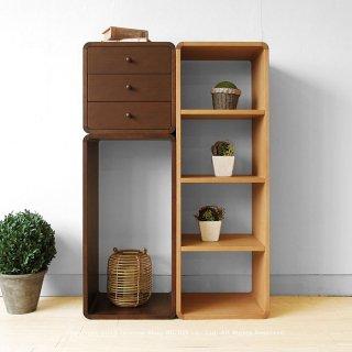 収納ブロック オープンシェルフ オープンラック 飾り棚 B、C、F3点セット ナラ材 ブロックを積み重ねるように組み合わせ