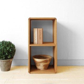 収納ブロック シェルフ オープンラック 飾り棚 Dタイプ ナラ材 ブロックを積み重ねるように組み合わせ