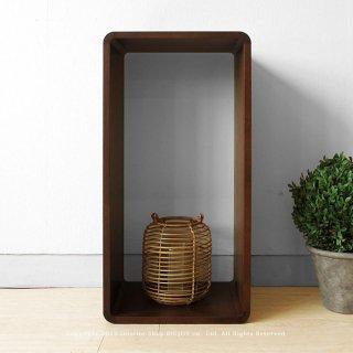 収納ブロック シェルフ オープンラック 飾り棚 Cタイプ ナラ材 ブロックを積み重ねるように組み合わせ