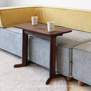 サイドテーブル コーヒーテーブル 個性的なコの字デザイン ウォールナット材 ウォールナット無垢材 レッドオーク材 幅65cm