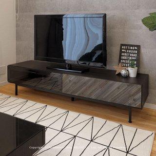 テレビ台 テレビボード 開梱設置配送 幅170cm ダークグレー ブラック ナチュラルモダン モノトーン スチール脚