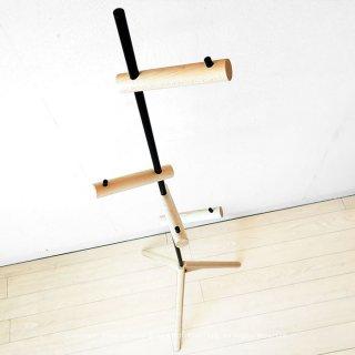 コートハンガー ハンガースタンド フックを自由な位置に変更できる 木の枝のようなデザイン ハードメープル無垢材 ハードメープル材