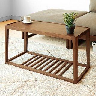 ローテーブル サイドテーブル コーヒーテーブル リビングテーブル ユニークなデザイン ウォールナット材 ウォールナット突板 北欧テイスト 幅80cm