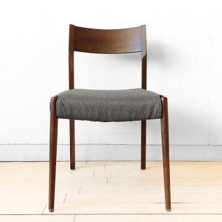 ダイニングチェア ウォールナット材 ウォールナット無垢材 木製椅子 PVC張りでカバーなしでも使える ※商品価格はカバー無しの金額です!