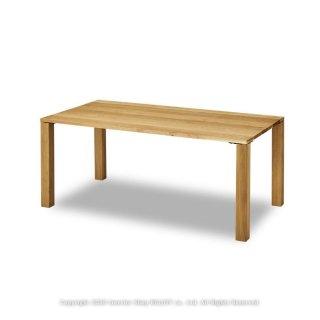 ダイニングテーブル 食卓 開梱設置配送 幅180cm オーク材 オーク無垢材 シンプルなスクエア型 ナチュラルテイスト(※チェア別売)
