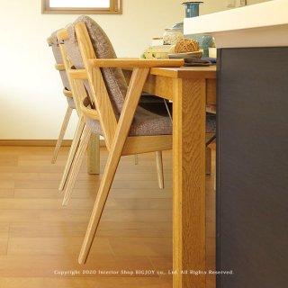 ダイニングチェア 受注生産商品 レッドオーク材 レッドオーク無垢材 木製 椅子 アームチェア 半肘タイプ カバーリング アクアクリーン対応