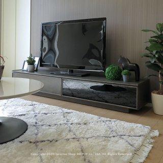 テレビ台 テレビボード ローボード 幅180cm 開梱設置配送 グレー ブラック グレー モノトーン クールモダン 高さ30cmのローボード