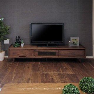 テレビ台 テレビボード ローボード 開梱設置配送 幅165cm ウォールナット無垢材 ウォールナット材