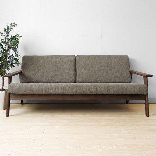 3人掛けソファ 3Pソファ カバーリングソファ 国産ソファ 木製ソファ 開梱設置 JOYSTYLE限定 幅180cm ウォールナット無垢材 木製フレーム SALA-3P-WN