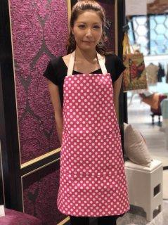 PVC ピンク&ホワイトドット エプロン