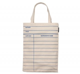 Library Card Tote Bag (Natural)