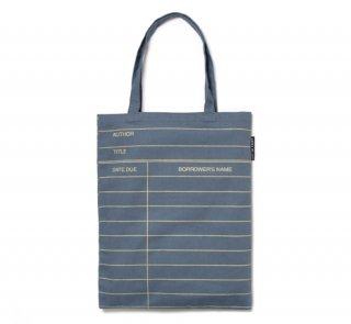 Library Card Tote Bag (Grey)