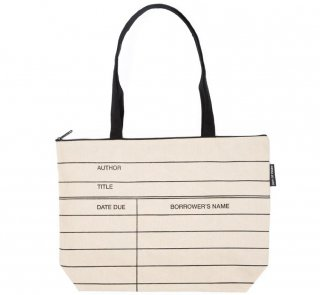 Library Card Market Tote Bag (Natural)