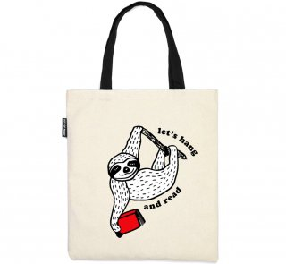 Book Sloth / Let's Hang and Read Tote Bag
