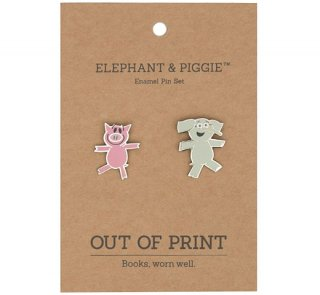 Mo Willems / Elephant & Piggie Enamel Pin Set