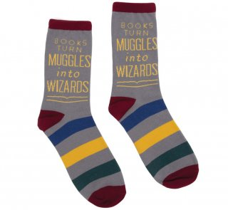 Harry Potter Alliance / Books Turn Muggles Into Wizards Socks