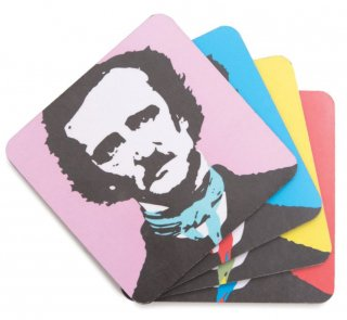 Edgar Allan Poe / Pop Poe Coaster Set