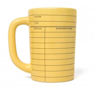 Library Card Mug (Yellow)