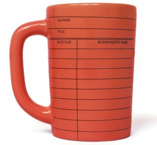 Library Card Mug (Red)