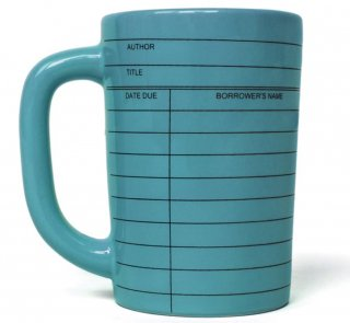 Library Card Mug (Blue)